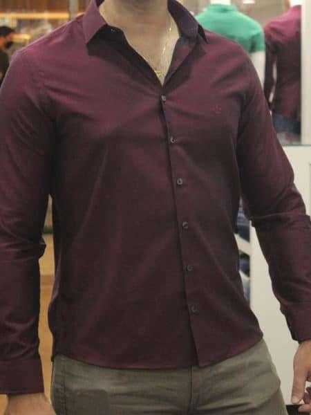 viaandrea camisa dudalina slim fit micro poa algodao egipcio 19