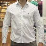 viaandrea camisa dudalina slim fit micro poa algodao egipcio 21