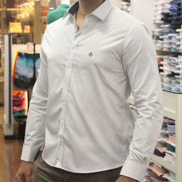 viaandrea camisa dudalina slim fit micro poa algodao egipcio 22