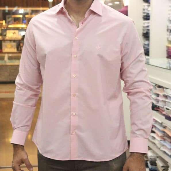 viaandrea camisa dudalina slim fit micro poa algodao egipcio 3