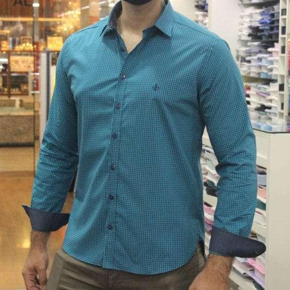 viaandrea camisa dudalina slim fit micro poa algodao egipcio 7