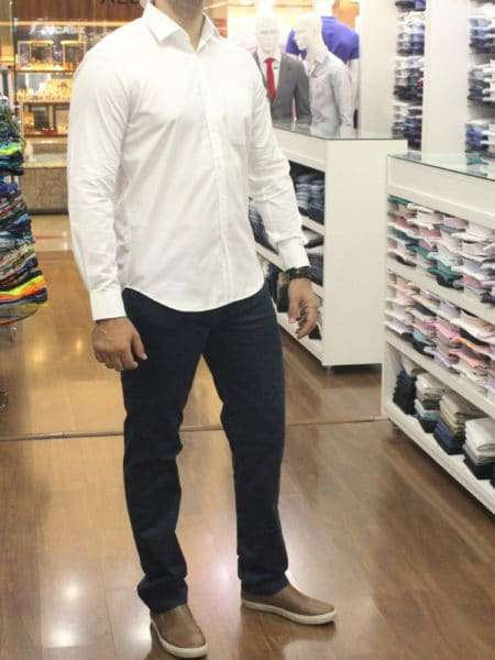 viaandrea camisa fideli ml tailoring basica 1