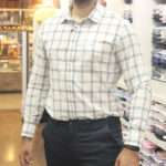 viaandrea camisa aramis slim coton slub xadrez 1